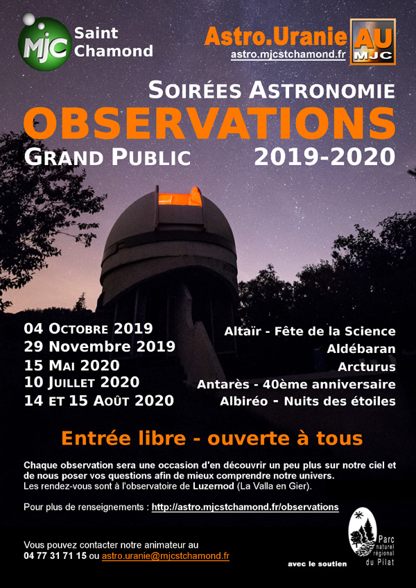 Observations 2019 2020 Club Astrouranie